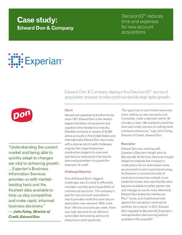 Case Study - Edward Don & Company