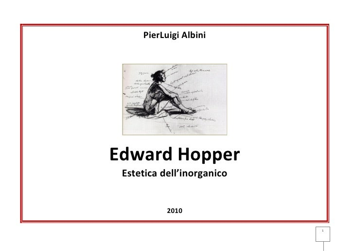 Edward Hopper: testo e slides
