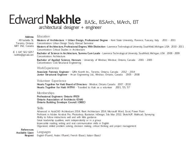 professional resume architect