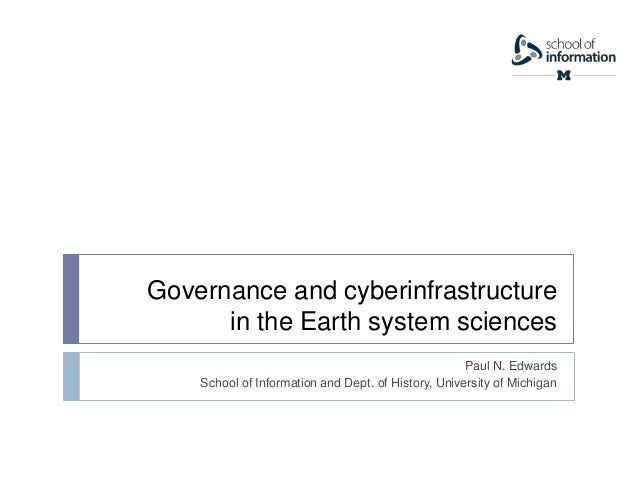 AHM 2014: Governance and Cyberinfrastructure in the Earth System Sciences