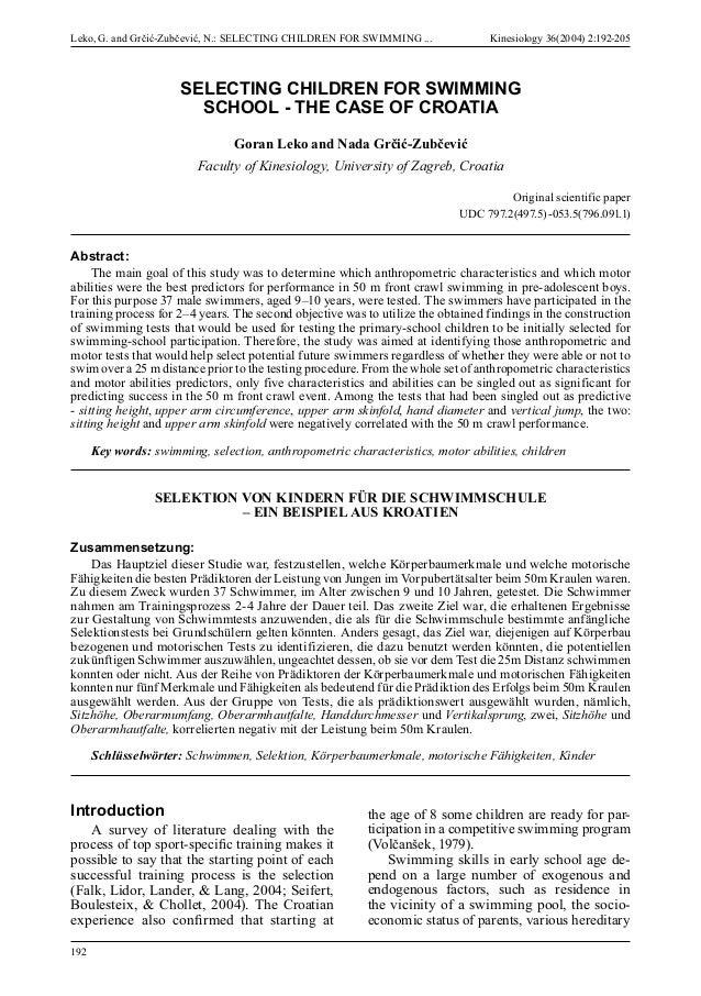 Dissertation Paper Kinesiology