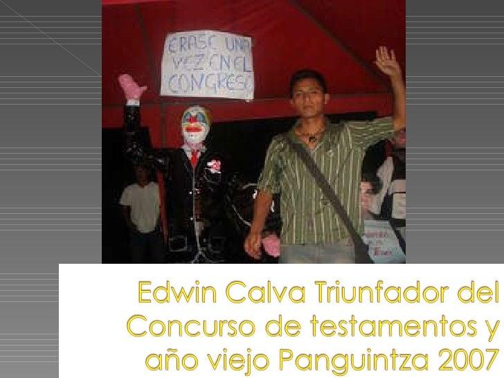 Edwin Calva Triunfador Del Concurso De Testamentos Y