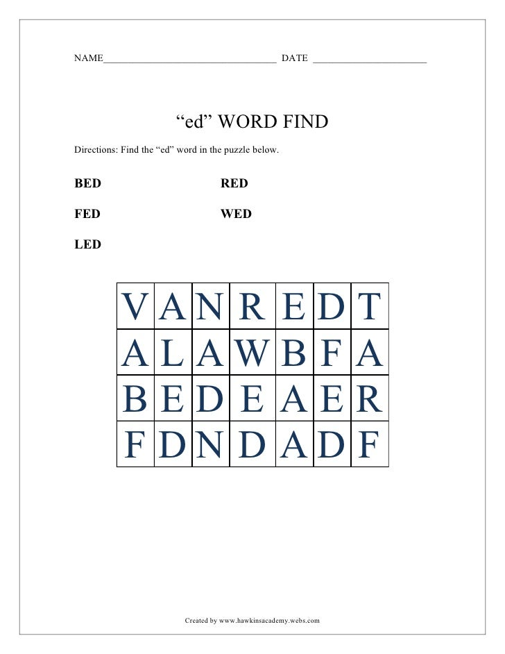 """ED"" word find"