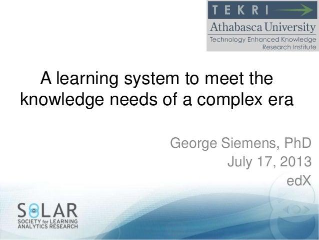 George Siemens' Slides from MIT talk