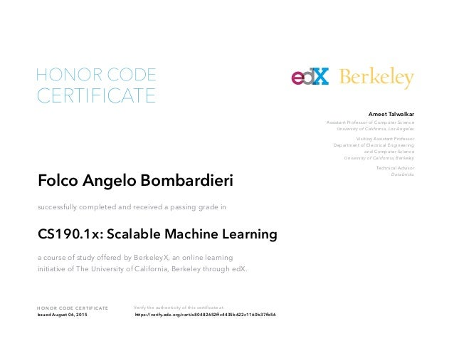 edx scalable machine learning