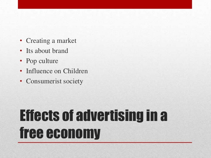 an analysis of the advertising influence on culture and the effects of adverts