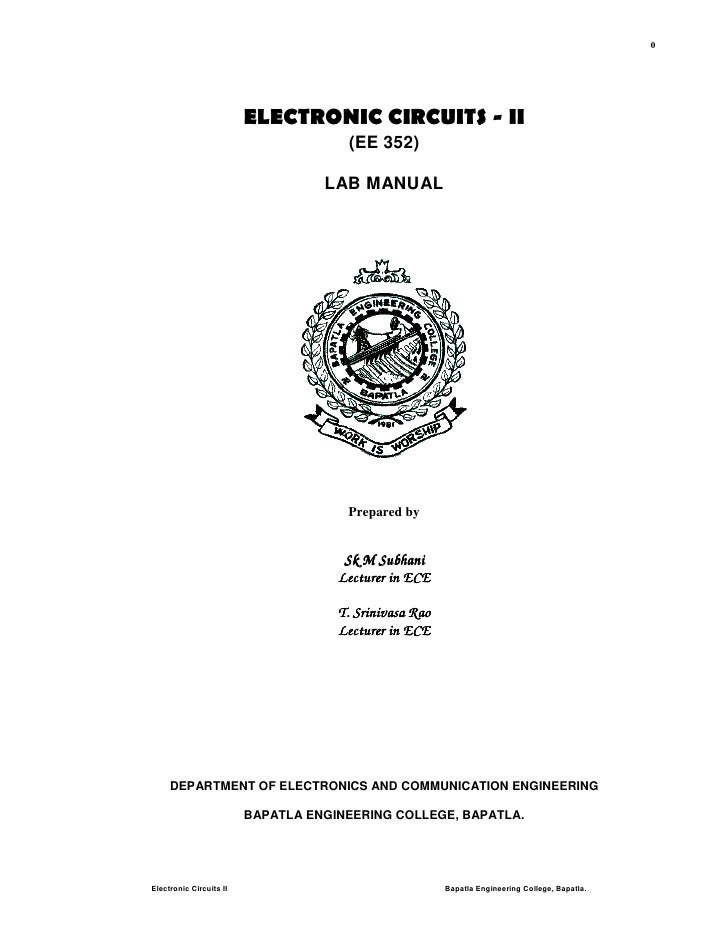 0                         ELECTRONIC CIRCUITS - II                                      (EE 352)                          ...