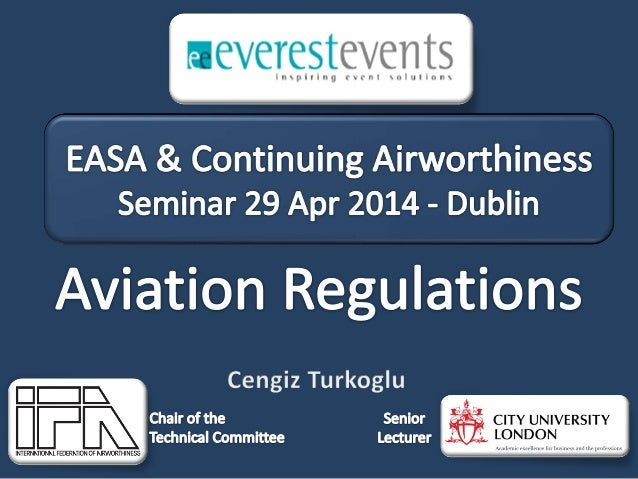 Everest Events - EASA & Continuing Airworthiness Seminar - 29 apr 2014