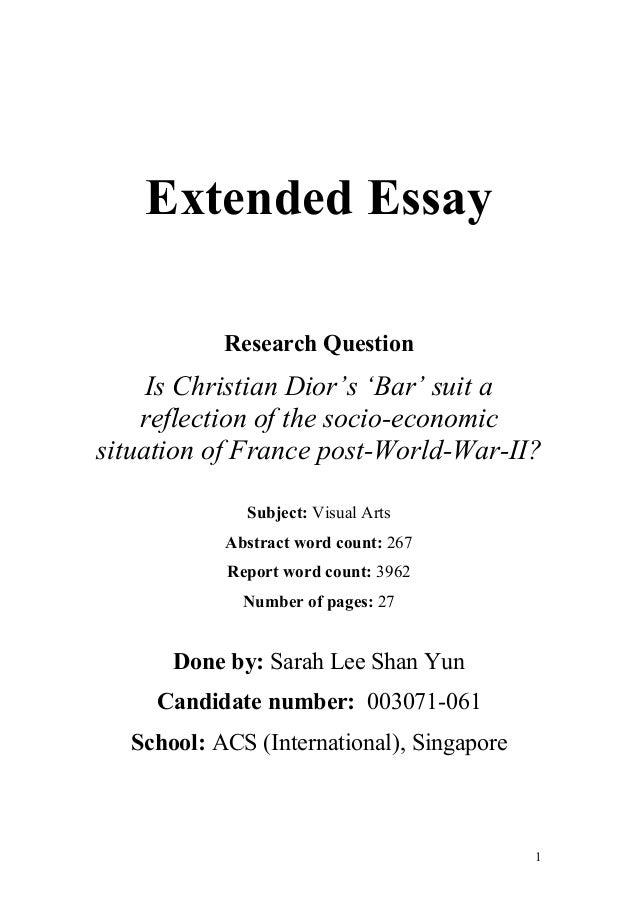 Essay on economics