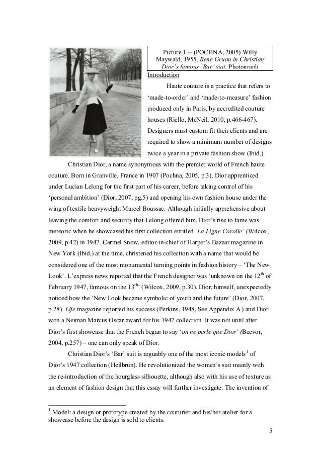 Examples Of Introduction Essay About Fashion - image 3
