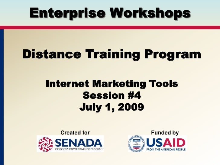Session #4, Internet Marketing Tools
