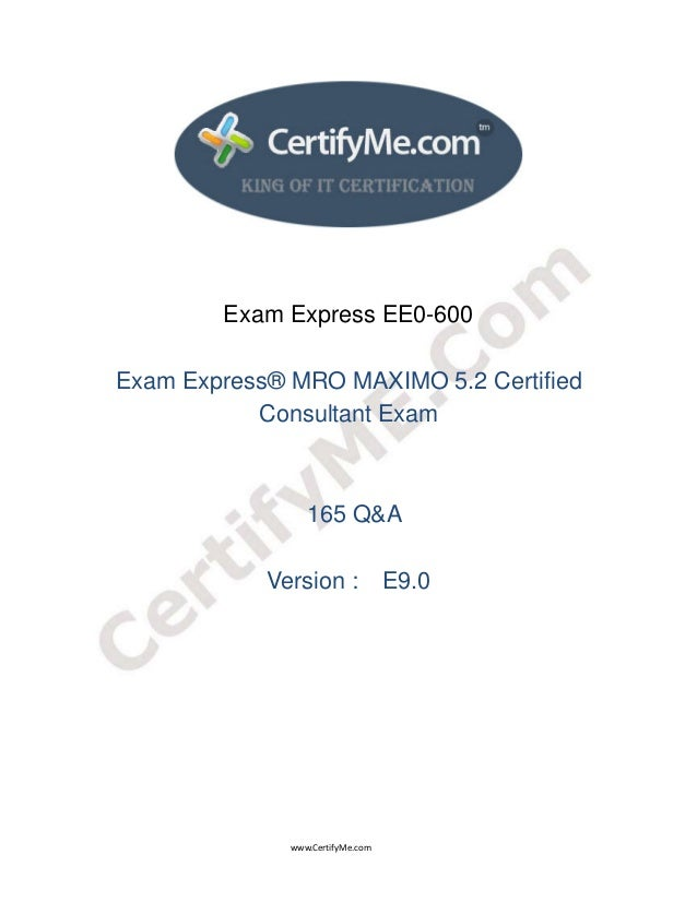www.CertifyMe.com  Exam Expr...
