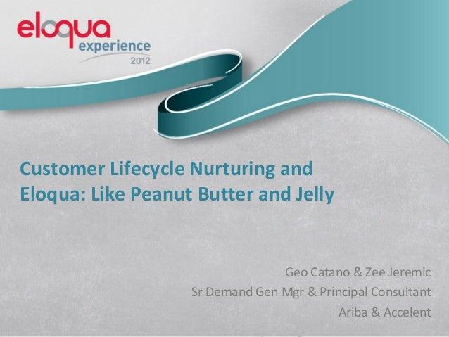 Customer Lifecycle Nurturing andEloqua: Like Peanut Butter and Jelly                                 Geo Catano & Zee Jere...