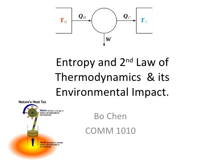 Entropy and 2 nd  Law of Thermodynamics  & its Environmental Impact. Bo Chen COMM 1010
