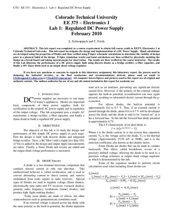 EE375   Electronics 1: lab 1