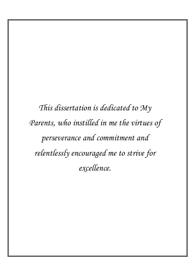 Dissertation Dedication My Parents