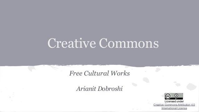 Arianit Dobroshi  - Creative Commons (OSCAL2014)