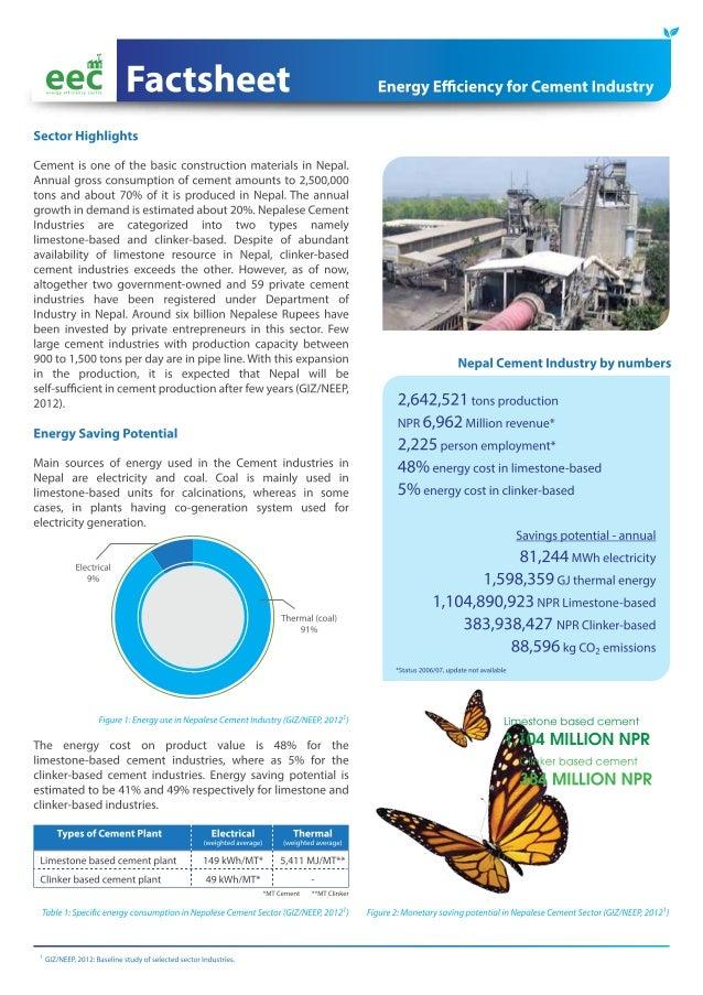 EEC Factsheet: Energy Efficiency for Cement Industry in Nepal