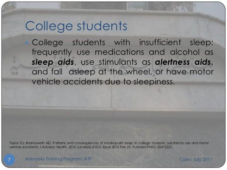 Sleeping College Students College Students  College
