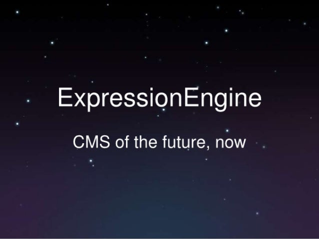 ExpressiQnEngine  CMS of the future,  nbw .
