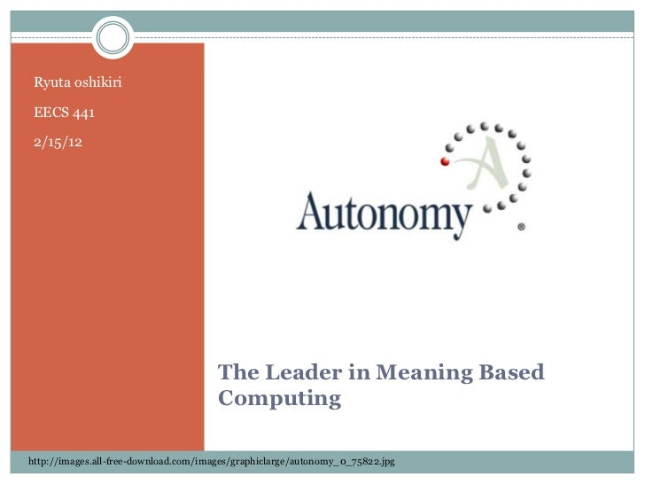 Autonomy Presentation