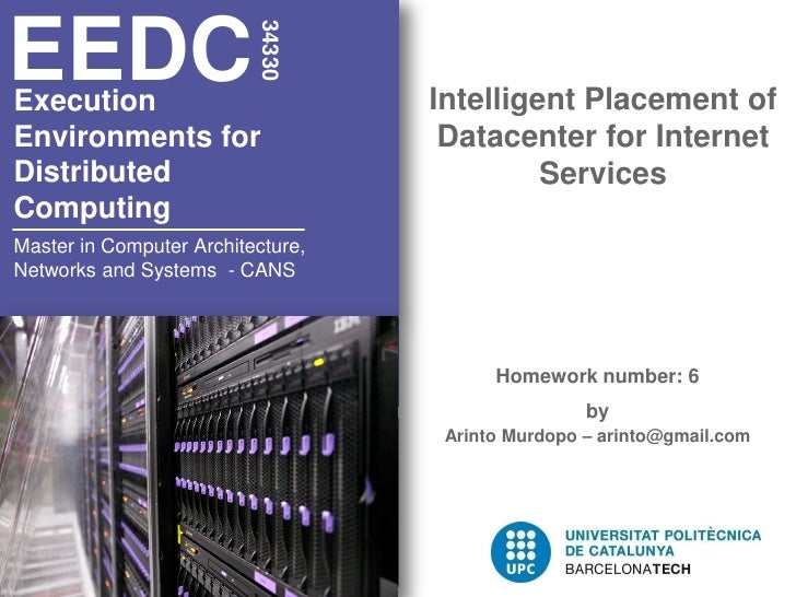 EEDC                          34330Execution                          Intelligent Placement ofEnvironments for            ...