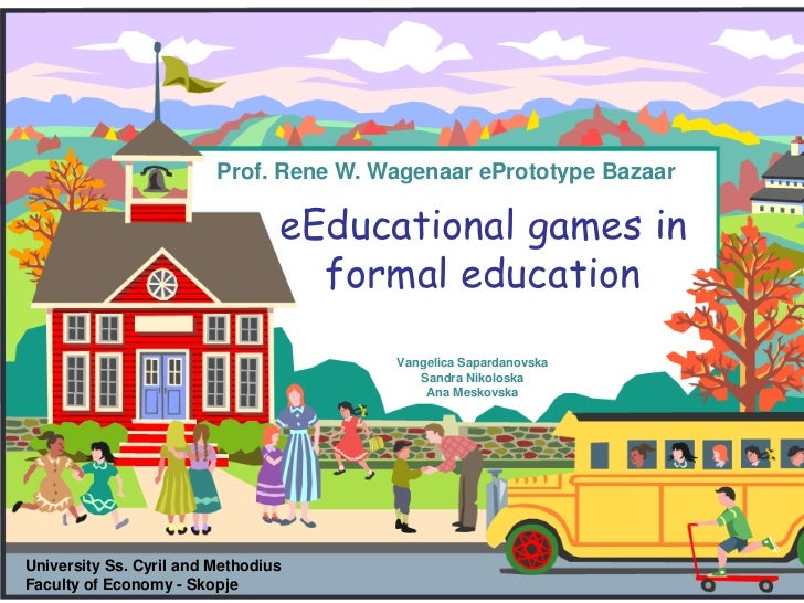 E-educational games in formal education - ePrototype Bazaar 2011