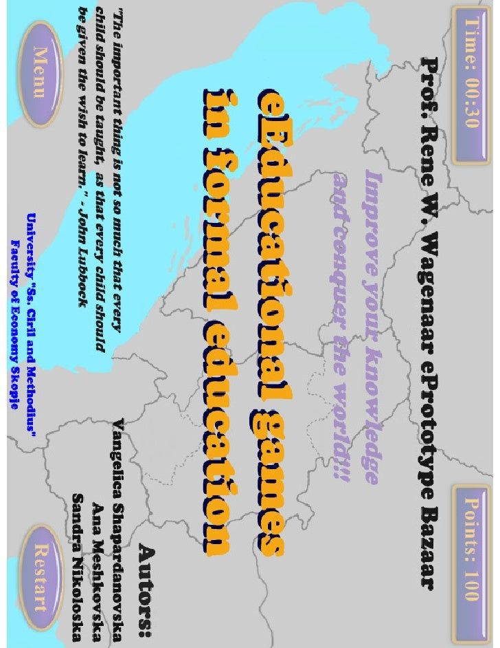 E-educational games in formal education - Poster