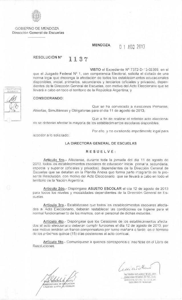 Direction Gene-a; de Escuelas OTO USSECRETARIA DE CACION OIRECCION GENERAL ,E ESCUELAS Prof MARIA INES ABRILE DE VOLLMER —...