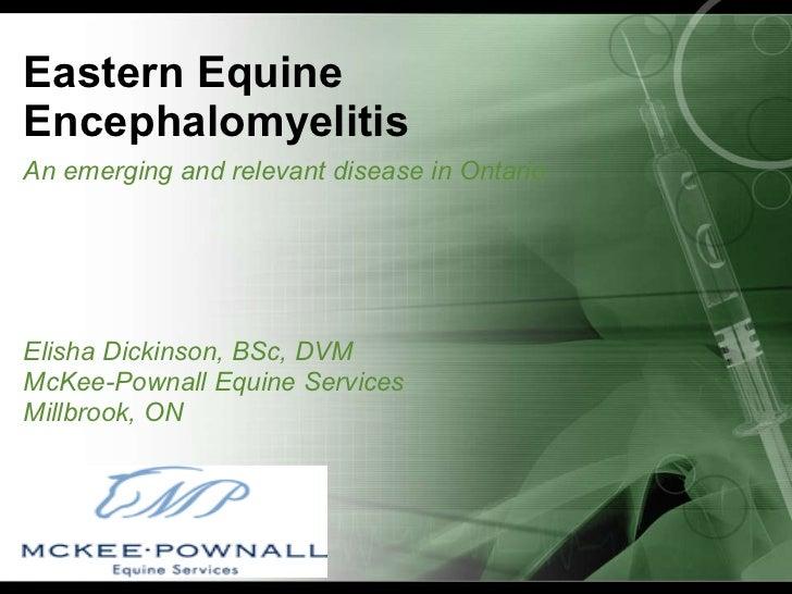 McKee-Pownall Equine Services EEE Webinar October 2010