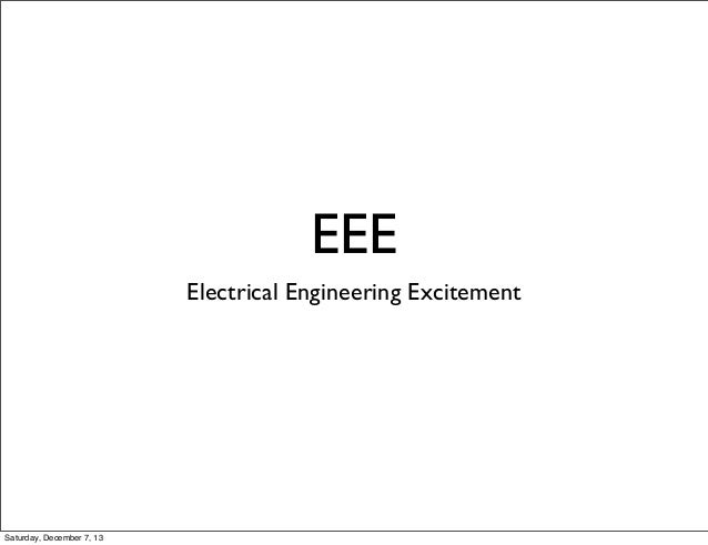 EEE (Electrical Theory Fundamentals) RobotsConf 2013