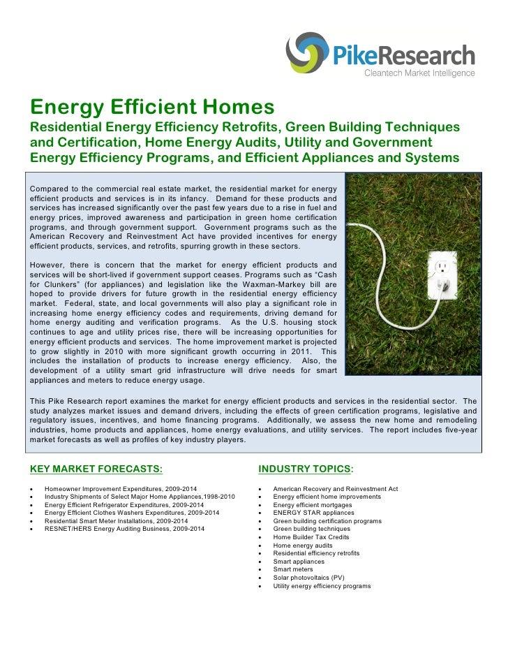 Home Energy Efficiency Report