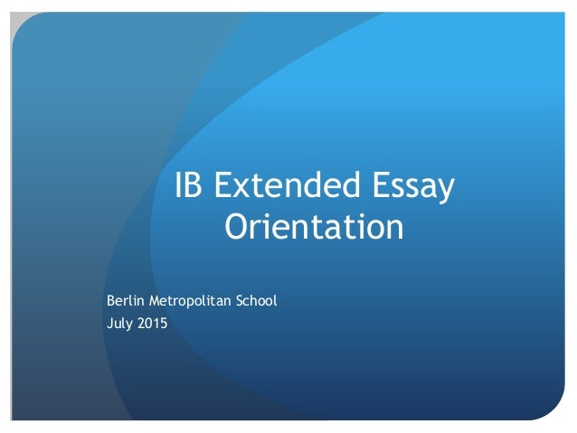Is it okay to have online sources for an IB Extended Essay?