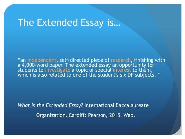 english a1 extended essay topics Questions about the extended essay email ms martin at bmartin@dwightedu what do i need to do‎ ‎ research questions dickinson (english a1.