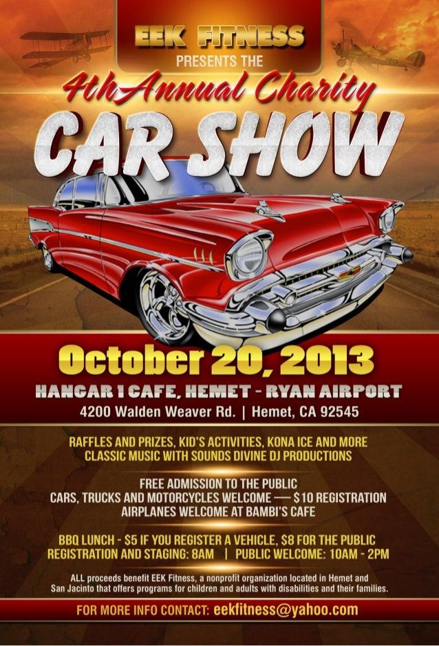 Car Show Flyer Vector Eek Car Show Flyer 2013