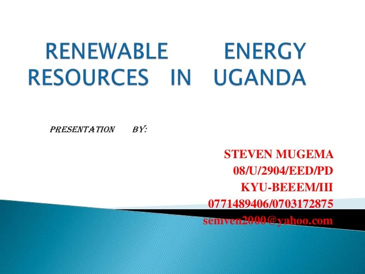 renewable energy resources in Uganda