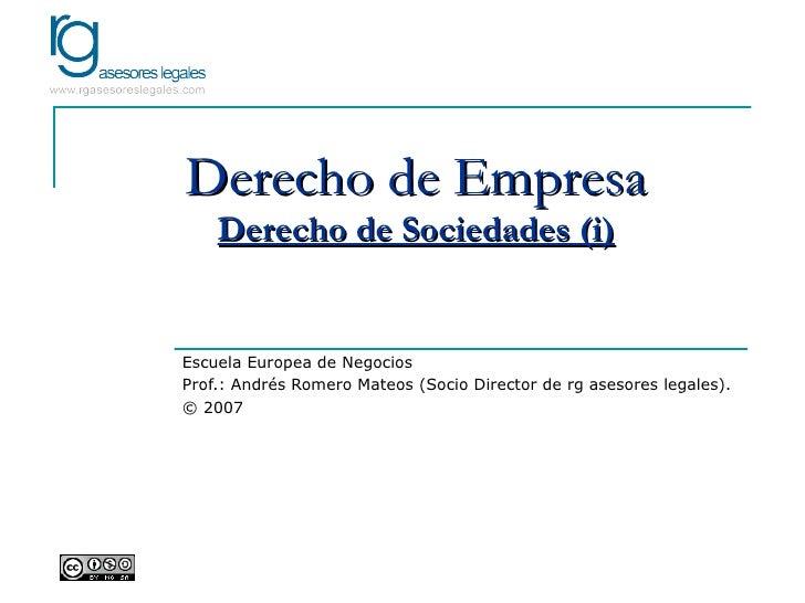 EEN - Derecho de Sociedades (i)