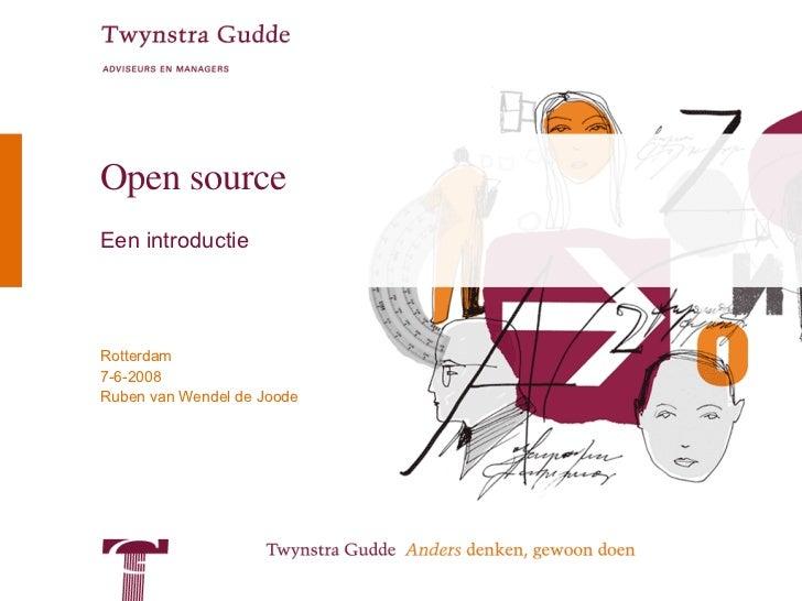Een reis door de wereld van open source