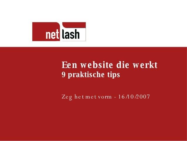 Een website die werkt