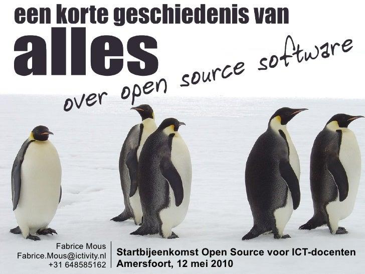 Een korte geschiedenis van alles over open source software