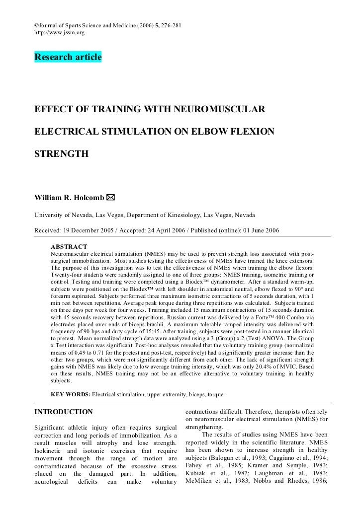 ©Journal of Sports Science and Medicine (2006) 5, 276-281http://www.jssm.orgResearch articleEFFECT OF TRAINING WITH NEUROM...