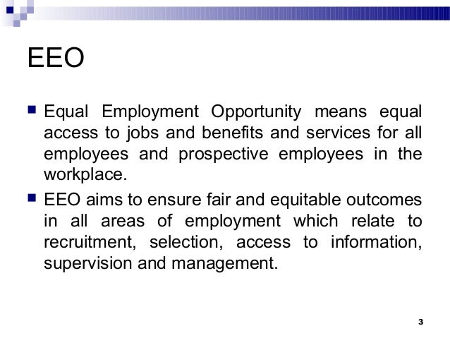 Issue Of Equal Employment Opportunity Amp Issue In