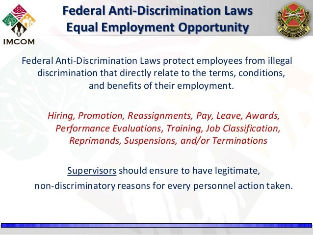 Anti Discrimination Policy Template Discrimination And Equal Employment Opportunity