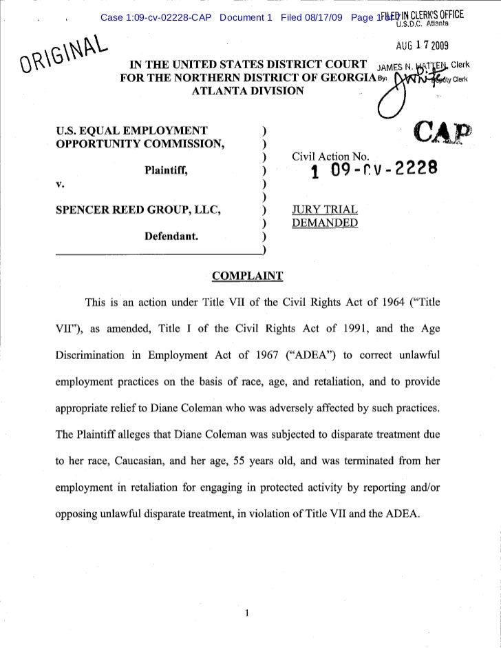 Case 1:09-cv-02228-CAP Document 1 Filed 08/17/09 Page 1FILED IN CLERKS OFFICE                                             ...
