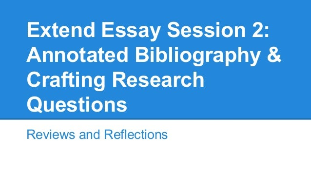 Extended essay research questions