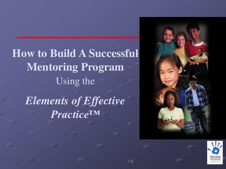 Elements of Effective Practice - Program Operations