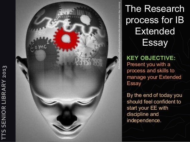 Extended Essay process 2013