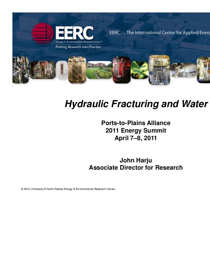 Hydraulic Fracturing and Water                                                             Ports-to-Plains Alliance       ...