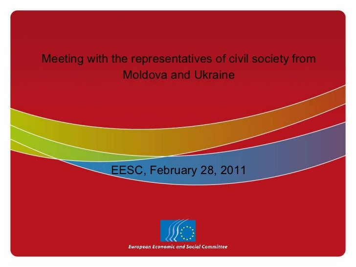 EESC - Meeting with the representatives of civil society from moldova and ukraine
