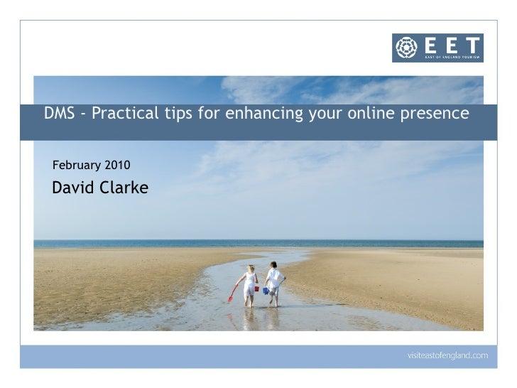 Destination Management System - East of England